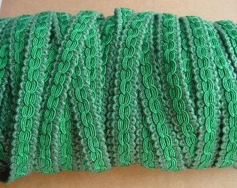 Green soft Gimp Braid Trim of Excellent Cotton Band - Braid - Tape - Scroll Braid Fabric Trim Gimp Lace-