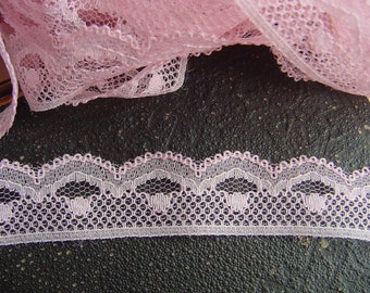 SALE  Pink Lace - For Lingerie, Lamp Shades, Dolls clothing's, Costume Design, Scrapbooking, Sewing,Embellishing-