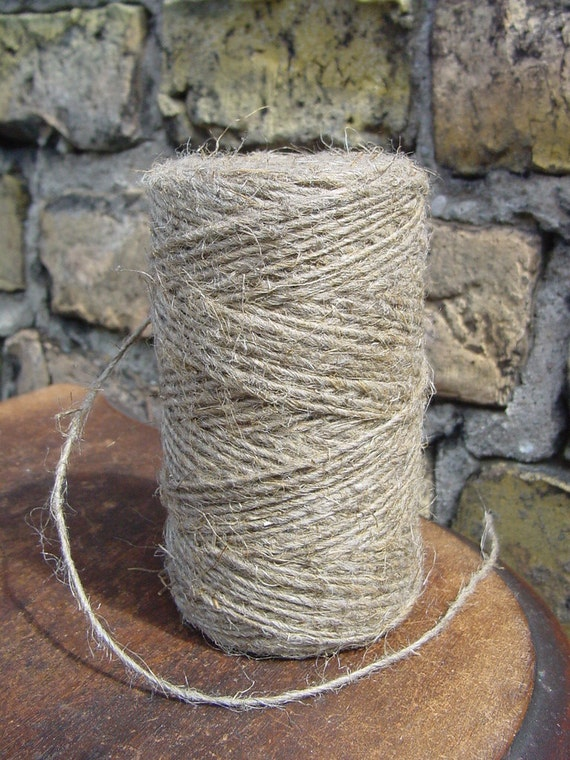 Cord Natural Linen - 50 Yards - 1,5 mm diameter - Natural Color