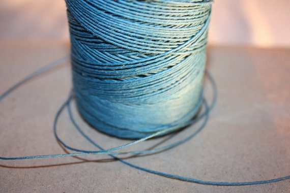 Turquoise Linen Thread - 25 Yards - 1 mm diameter - Tie, Strap, Band, Rope, Twine - last listing