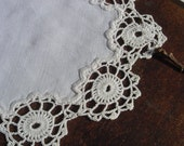 Dress up Yours Jam - Vintage Hand Crocheted Doily - Embellishment - Altered Arts - Destash - Goodies - Ideal for Mixed Media Art