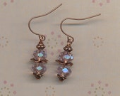 Petal Pink Crystal Double Stack Earrings