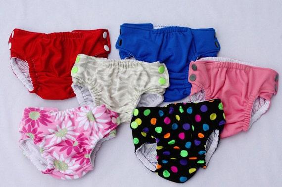 Cloth Swim Diaper Medium 6 - 12 mo 16 to 22 lbs