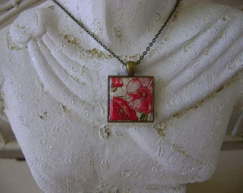 Antique French Floral Pendant Necklace