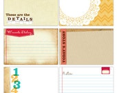 Elle's Studio Everyday Large Journaling Tags 6 pieces