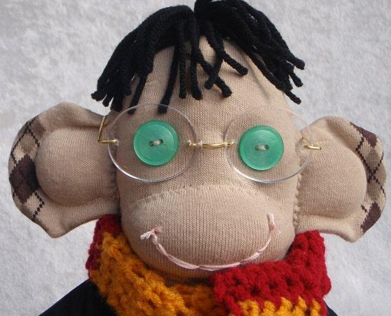Harry Potter Inspired Sock Monkey (Argyle)