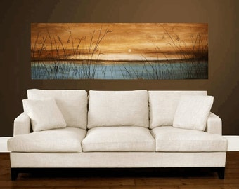 """60""""blue, brown Painting  landscape painting  ,oil painting,  abstract  painting  from   Jolina Anthony"""