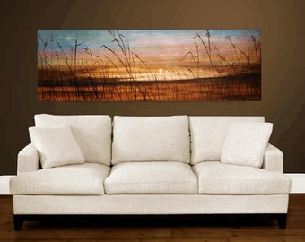 "Art Painting 72""x 30"" HUGE abstract  painting Acrylic painting Wall Decor landscape painting oil painting  from   Jolina Anthony"