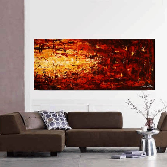 "72"" large painting original palette knife abstract painting, a perfect wall decor, from jolina anthony"
