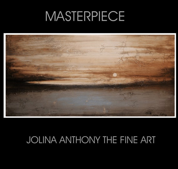 a MASTERPIECE from listed profissional Artist Jolina Anthony, unique gallery piece strong texture in vintage optics