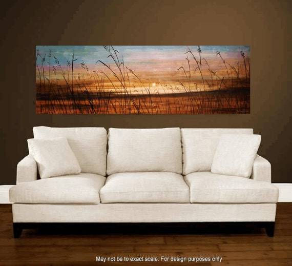 "Original 72"" large xxl Landscape painting from listed artist jolina anthony made to order"