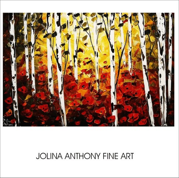 original jolinas one of a kind impasto painting from  jolina anthony gallery back wrap stretched canvas