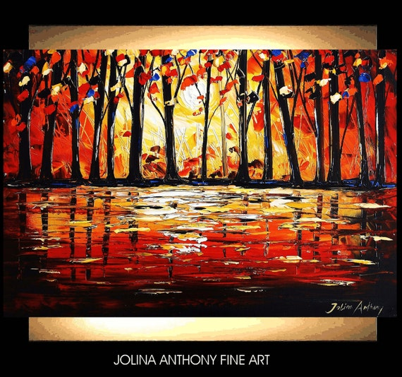 original jolinas one of a kind impasto Forest painting from  jolina anthony a perfect wall decor for your home