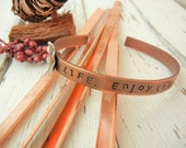 "6"" x 1/4"" COPPER 16g Bracelet Blanks - 10 Pack - Copper Bracelet Making Blank for Hand Stamped Cuff - Metal Stamping Blank"