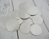 "22 gauge 7/8"" Sterling Silver Disc - Pack of 4 - Hand Stamped Jewelry Making Supply"