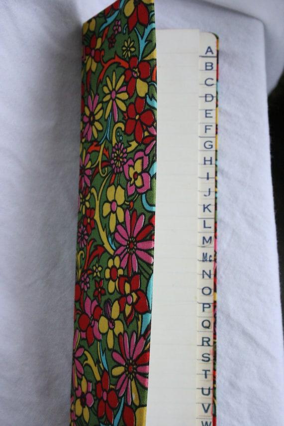 Vintage Flower Child Address Book Made in Japan