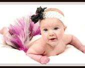 Baby Tutu - Pink, Black and White