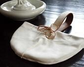 WRISTLETS Leather Purse Bag Handmade clutch white beige cream handmade kate michigan
