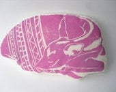 Decorative Animal Pillow - Pink Deer Cushion