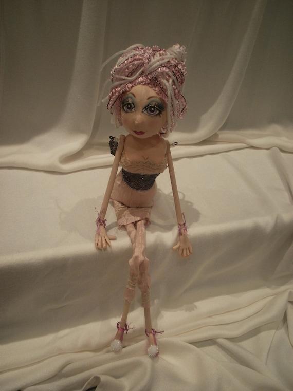 Alithea Clay & Cloth Boudoir Art Doll