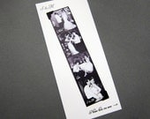 B&W - Custom Save the Date or Thank You Cards with Photobooth Magnets
