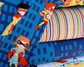 Super Heroes Fabric Bundle by Michael Miller- 1 yard set