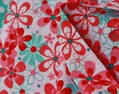 Nearby Floral Fabric in Aqua- CX4902   by Michael Miller - 1 yard