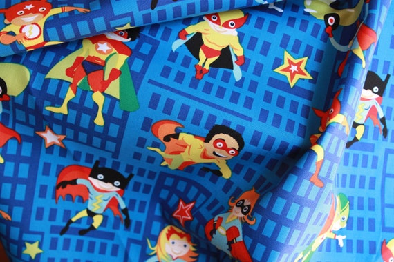 Super Heroes Fabric by Michael Miller - 1 yard of fabric