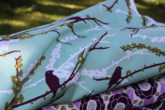 Joel Dewberry- Aviary 2 Collection- Sparrows -Plum -JD41- 1 yard