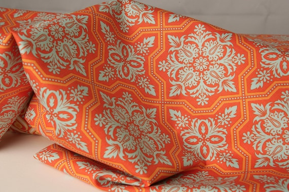 Joel Dewberry Fabric- Tile Flourish from Heirloom Collection JD49 Amber- THREE YARDS