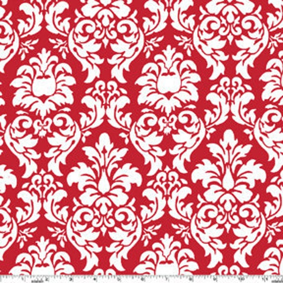 Dandy Damask Fabric in Rouge -CX3095 by Michael Miller - 1 fabric yard