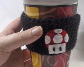 Super Mario Mushroom Coffee Cuff