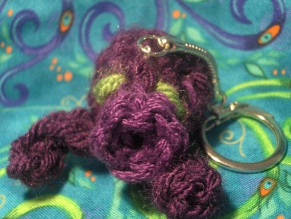 Plush Purple Octorok Keychain