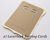 27 Leverback Earring Display Cards-Jewelry Displays-Kraft and Cream-Custom Printing