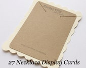 27 Necklace Display Cards-Jewelry Displays-Kraft and Cream-Custom Printing