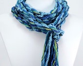 EcoCessory Long Skinny Scarf - True Blue - Vegan, Environmentally Friendly