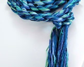 Mediterranean Sea -  EcoCessory Skinny Scarf - Vegan, Eco Friendly