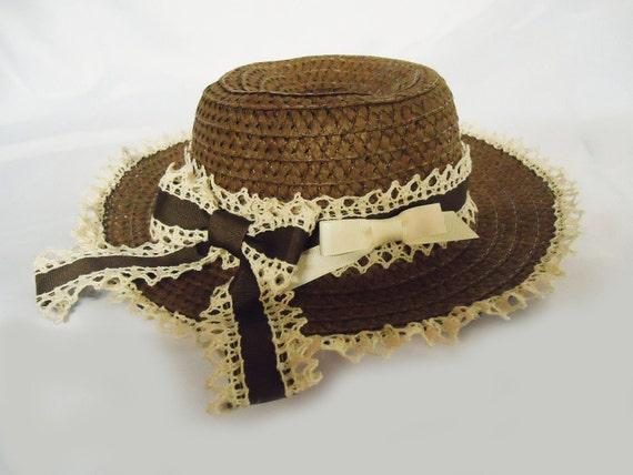 Brown Summer Straw Classic Lolita Picnic Hat