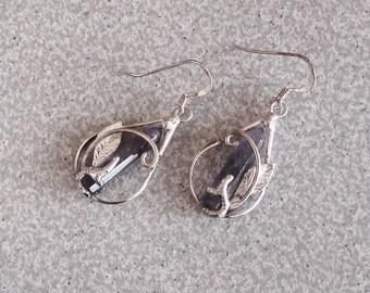 Handmade Sterling Silver Earrings With Gemstones
