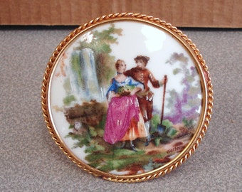 Vintage Antique Painter Signed Hand Painted Limoges Porcelain Plaque