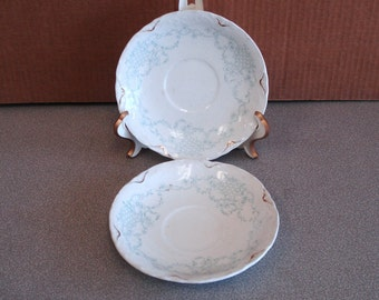 Antique Johnson Brothers England Semi-porcelain 2 Saucers.