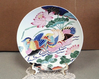 MANDARIN DOVER Hand Painted Cabinet Plate.