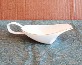 LENOX Art Deco Bone China Gravy Boat - Retired.