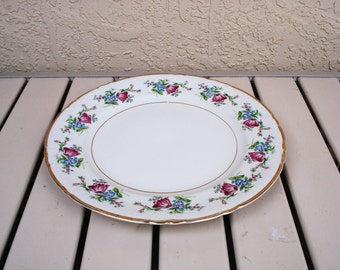 "KYOTO Fine China MARGUERITE Pattern 11 3/4"" Serving Platter Japan."
