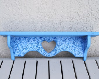 Up Cycled Wooden Wall Mount Shelf.
