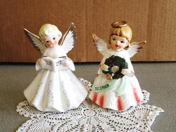 Vintage Porcelain Nippon Japan NIHON YOKO BOEKI Pair Of Angel Figurines.