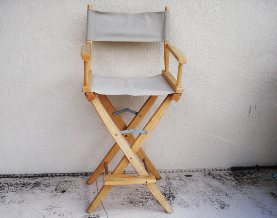 Solid Wood Folding High Directors Chair by npebaysale on Etsy