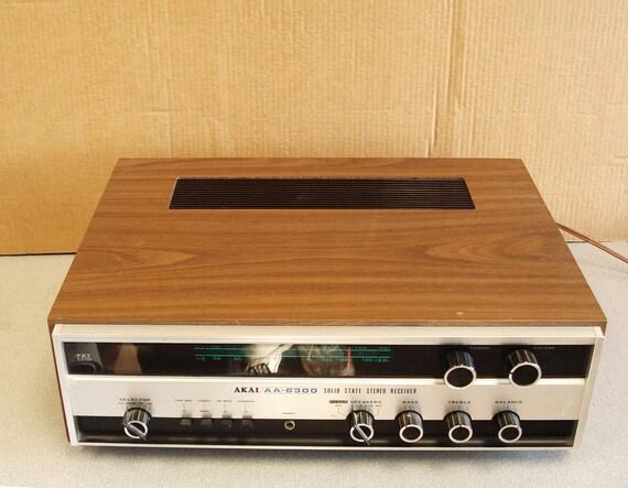 Vintage Akai Model AA-6300 AM FM Receiver.