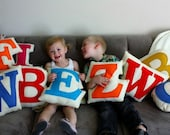 Personalized Baby Letter Pillow Custom Recycled Felt