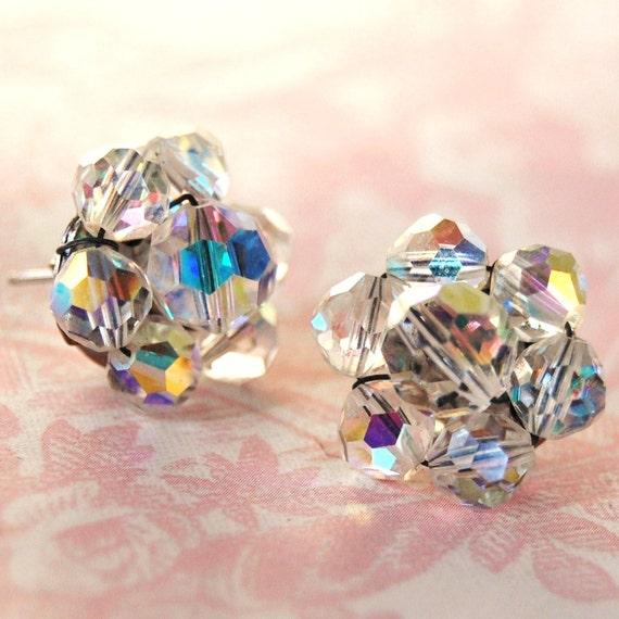 Vintage Glass Beaded Earrings